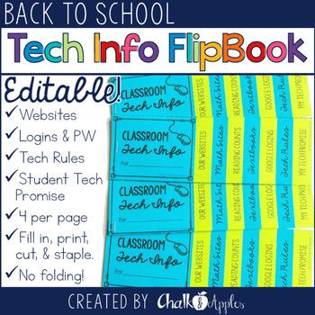 Student Passwords Technology Info Flip Book Editable Flipbook 1.jpg - Student Passwords & Technology Info Flip Book (Editable Flipbook)