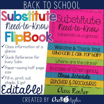 Substitute Flipbook Editable 1.jpg - Substitute Info Flipbook (Editable Flip Book)