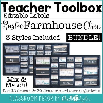 Teacher Toolbox Bundle Rustic Farmhouse Chic 1.jpg - Teacher Toolbox BUNDLE - Rustic Farmhouse Chic