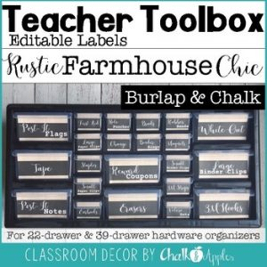 Teacher Toolbox Burlap Chalk Rustic Farmhouse Chic 1.jpg - Teacher Toolbox - Burlap & Chalk - Rustic Farmhouse Chic