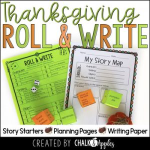 Thanksgiving Writing Activity Roll Write Center 1.jpg - Year-Long Holiday Writing Activities Bundle (Roll & Write)