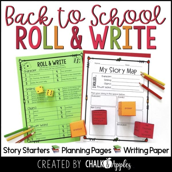 Thumbnails.001 1 - Back to School Writing Activity - Roll & Write Center