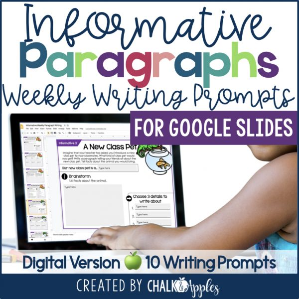 Thumbnails.001 3 - Informative Paragraphs - DIGITAL Weekly Paragraph Writing Prompts