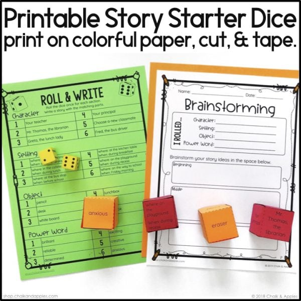 Thumbnails.003 - Back to School Writing Activity - Roll & Write Center - Distance Learning