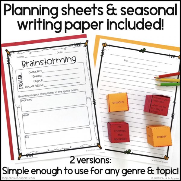 Thumbnails.004 - Back to School Writing Activity - Roll & Write Center - Distance Learning