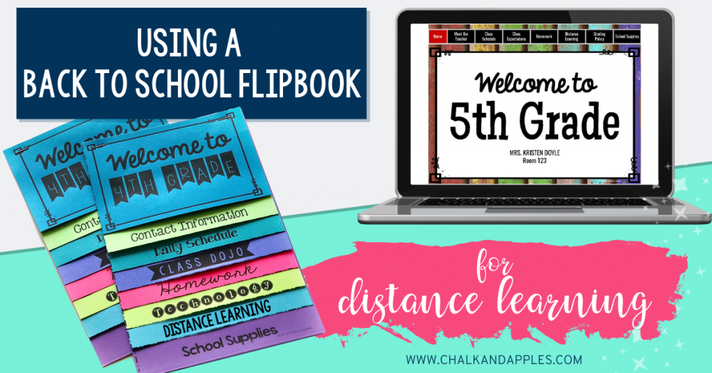 Use a Back to School Flipbook for Distance Learning