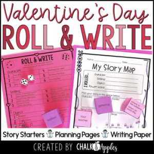 Valentine's Day Writing Activity Roll Write Center 1.jpg - Year-Long Holiday Writing Activities Bundle (Roll & Write)