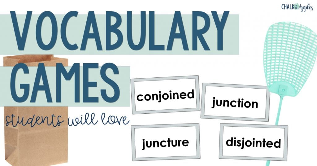 Vocabulary Activities Students will Love