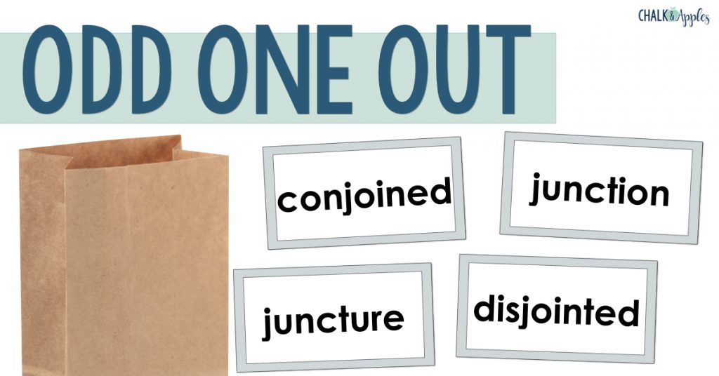 Odd One Out Vocabulary Activity