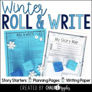 Winter Writing Activity Roll Write Center 1.jpg - Year-Long Holiday Writing Activities Bundle (Roll & Write)