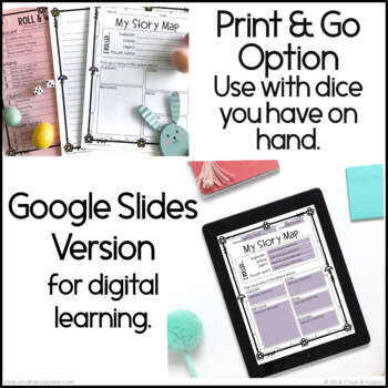 google slides - Spring Writing Activity - Roll & Write Center - Distance Learning