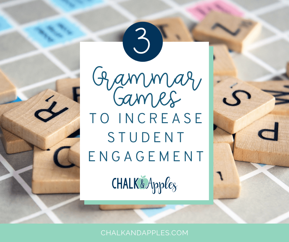 Including grammar games into your reading block will not only engage students, but allow them to have fun while learning. Check out these 3 fun student games!