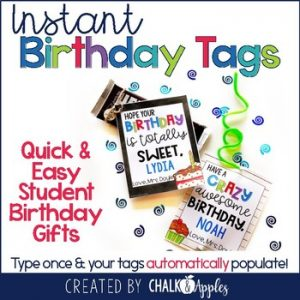 instant birthday tags