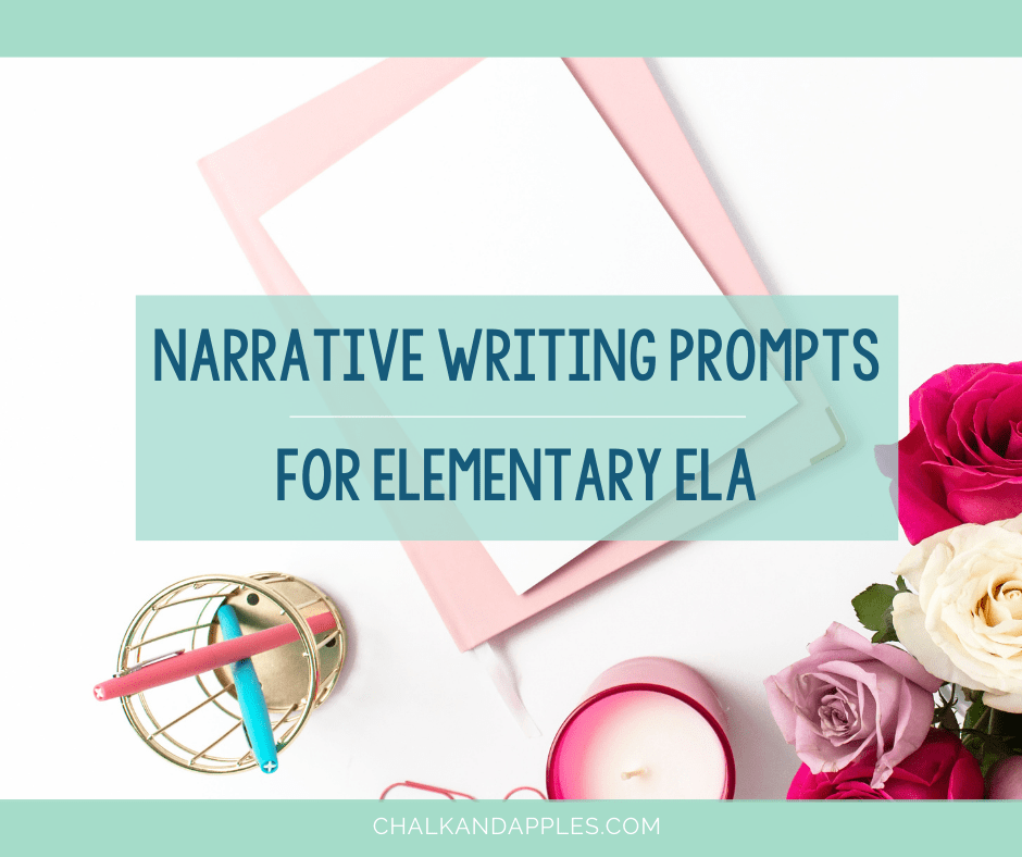 Print & digital narrative writing prompts for grades 3-5! Try these narrative writing activities in your own upper elementary ELA classroom!