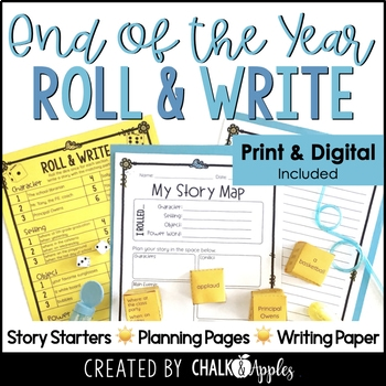 original 4525726 1 - End of the Year Writing Activity - Roll & Write Center - Distance Learning