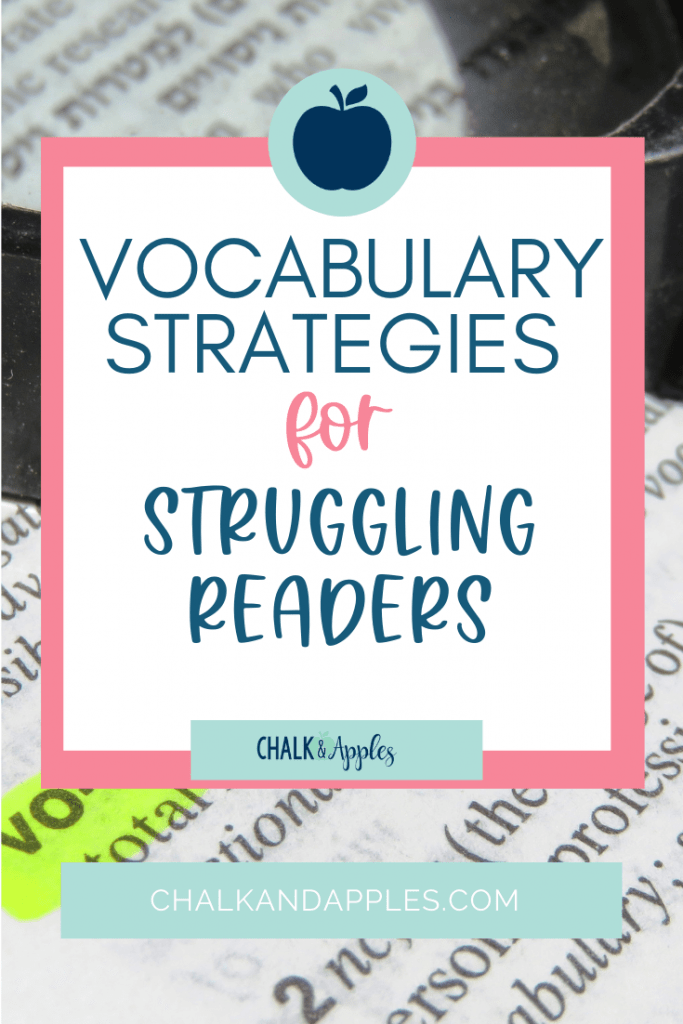 Building student vocabulary is an integral part of learning! Click here to read more as I share four important vocabulary strategies to help struggling readers!
