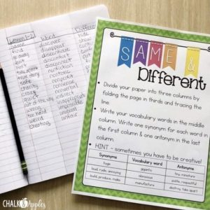 word work for big kids - Differentiated Spelling Lists Made Easy